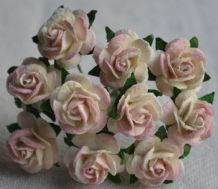 1.5cm BLUSH BABY PINK Mulberry Paper Roses